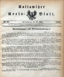 Kattowitzer Kreisblatt, 1885, nr13