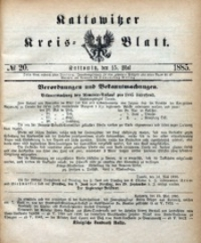 Kattowitzer Kreisblatt, 1885, nr20
