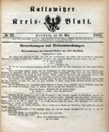 Kattowitzer Kreisblatt, 1885, nr22