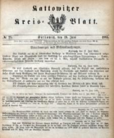 Kattowitzer Kreisblatt, 1885, nr25