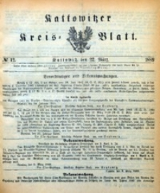 Kattowitzer Kreisblatt, 1889, nr12