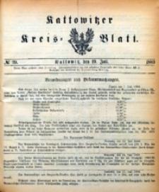 Kattowitzer Kreisblatt, 1889, nr29