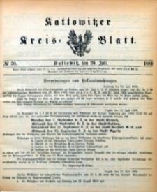 Kattowitzer Kreisblatt, 1889, nr30