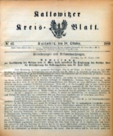 Kattowitzer Kreisblatt, 1889, nr42