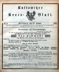 Kattowitzer Kreisblatt, 1890, nr4
