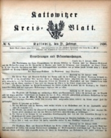 Kattowitzer Kreisblatt, 1890, nr8