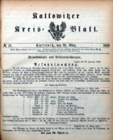 Kattowitzer Kreisblatt, 1890, nr13