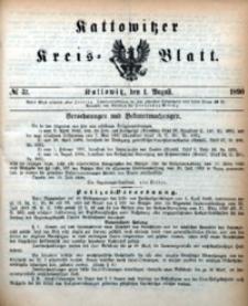 Kattowitzer Kreisblatt, 1890, nr31