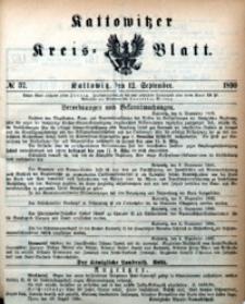Kattowitzer Kreisblatt, 1890, nr37