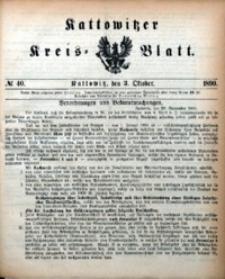 Kattowitzer Kreisblatt, 1890, nr40