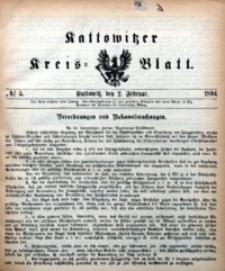 Kattowitzer Kreisblatt, 1894, nr5