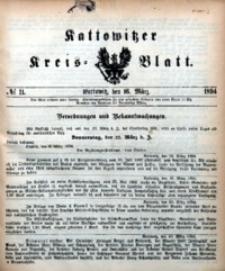 Kattowitzer Kreisblatt, 1894, nr11