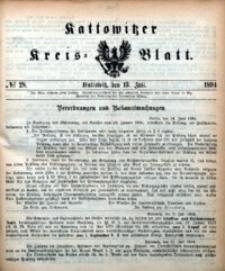 Kattowitzer Kreisblatt, 1894, nr28