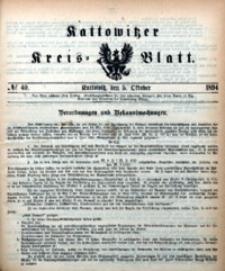 Kattowitzer Kreisblatt, 1894, nr40