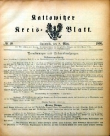 Kattowitzer Kreisblatt, 1895, nr10