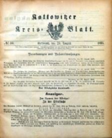 Kattowitzer Kreisblatt, 1895, nr34