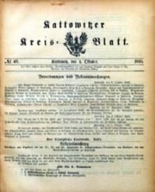 Kattowitzer Kreisblatt, 1895, nr40