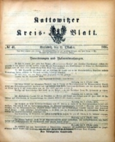 Kattowitzer Kreisblatt, 1895, nr41