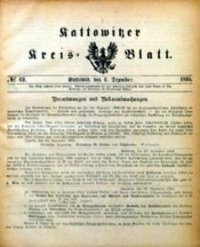Kattowitzer Kreisblatt, 1895, nr49