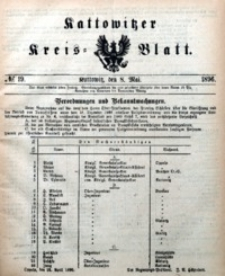 Kattowitzer Kreisblatt, 1896, nr19