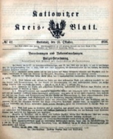 Kattowitzer Kreisblatt, 1896, nr42