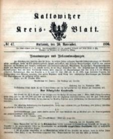 Kattowitzer Kreisblatt, 1896, nr47