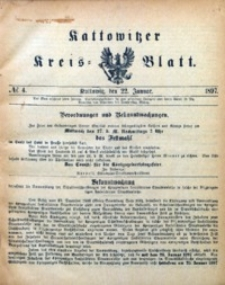 Kattowitzer Kreisblatt, 1897, nr4