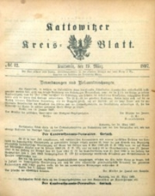 Kattowitzer Kreisblatt, 1897, nr12