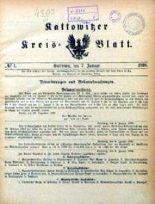 Kattowitzer Kreisblatt, 1898, nr1