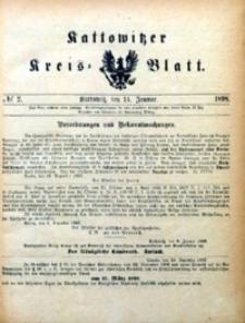 Kattowitzer Kreisblatt, 1898, nr2