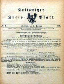 Kattowitzer Kreisblatt, 1898, nr6