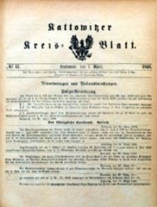 Kattowitzer Kreisblatt, 1898, nr13