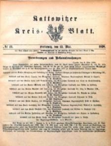Kattowitzer Kreisblatt, 1898, nr19