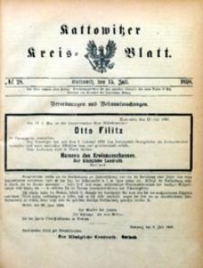 Kattowitzer Kreisblatt, 1898, nr28