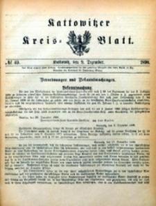 Kattowitzer Kreisblatt, 1898, nr49
