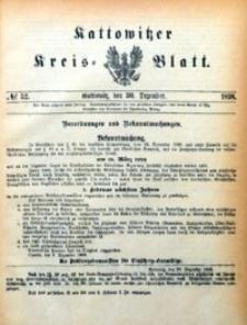 Kattowitzer Kreisblatt, 1898, nr52