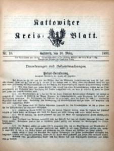 Kattowitzer Kreisblatt, 1899, nr10