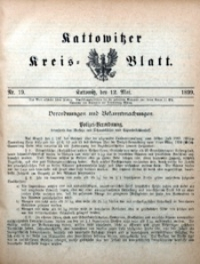 Kattowitzer Kreisblatt, 1899, nr19