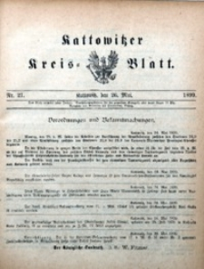 Kattowitzer Kreisblatt, 1899, nr21