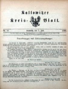 Kattowitzer Kreisblatt, 1899, nr27