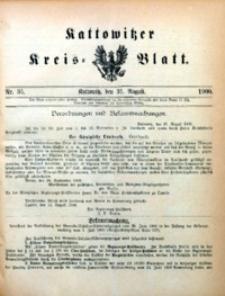 Kattowitzer Kreisblatt, 1900, nr35