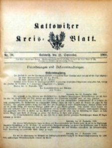 Kattowitzer Kreisblatt, 1900, nr38