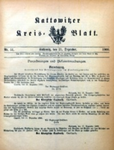 Kattowitzer Kreisblatt, 1900, nr51