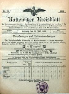 Kattowitzer Kreisblatt, 1912, nr29