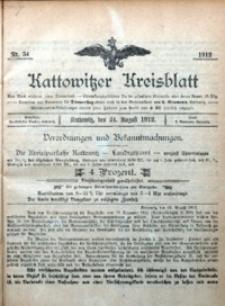 Kattowitzer Kreisblatt, 1912, nr34