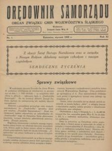 Orędownik Samorządu, 1935, R. 11, nr 1