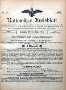 Kattowitzer Kreisblatt, 1913, nr11