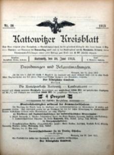Kattowitzer Kreisblatt, 1913, nr26
