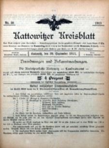 Kattowitzer Kreisblatt, 1913, nr38