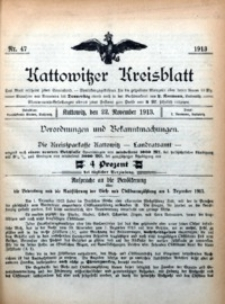 Kattowitzer Kreisblatt, 1913, nr47